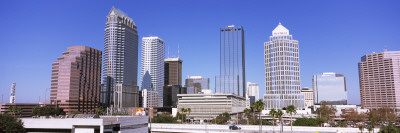 Skyscraper in a City, Tampa, Hillsborough County, Florida, USA Wall Decal by  Panoramic Images