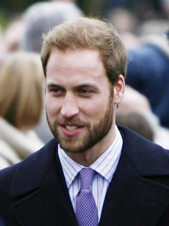 Prince William, sporting a new beard, arrives with members of the Royal Family to attend a Christma Photographic Print