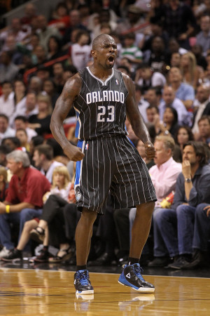 Orlando Magic v Miami Heat, Miami, FL - March 03: Jason Richardson Photographic Print