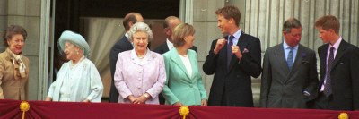 Royal Family on Queen Mother's 100th Birthday, Friday August 5, 2001 Photographic Print
