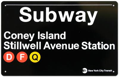 New York- Coney Island Metal Sign Tin Sign
