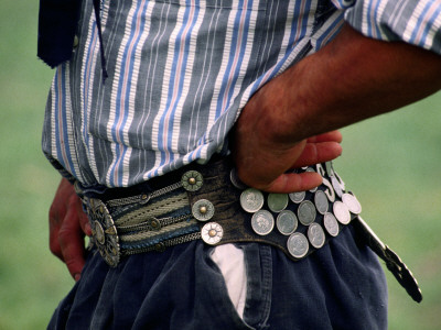 Gaucho with Hands on Hips Wearing Traditional Belt Photographic Print