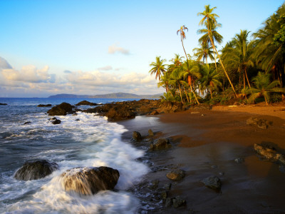 Beach on Pacific Ocean on West Coast of Costa Rica Photographic Print by Johnny Haglund
