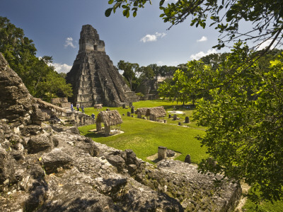 The Great Plaza at Tikal Archeological Site Photographic Print by Diego Lezama