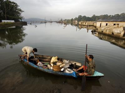 Former Farmers, Now Fishermen, from Village Flooded During the Tsunami in 2004 Photographic Print by Johnny Haglund