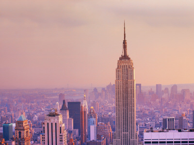 Empire State Building and Manhattan Skyline Photographic Print by Jean-pierre Lescourret