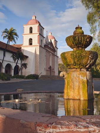 Mission at Santa Barbara Photographic Print by Douglas Steakley