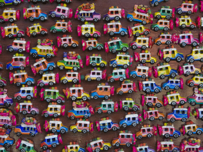 Hand-Crafted Souvenirs at Chichicastenango Sunday Market Photographic Print by Diego Lezama