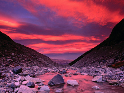 Sunset Reflected in the Waters of the Rio Blanco Photographic Print by Gareth McCormack