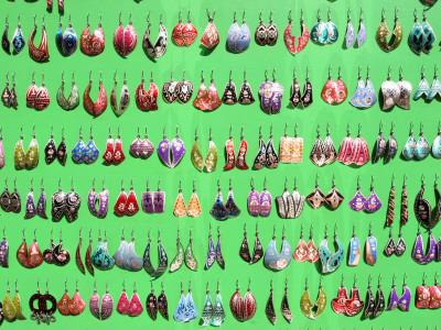 Traditional Earrings, Eminonu Street Vendor Photographic Print by Diego Lezama