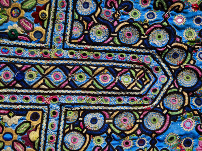 Colourful Embroidery Detail Photographic Print by Kimberley Coole