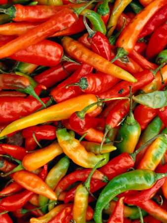 Chillies Photographic Print by Jean-Bernard Carillet