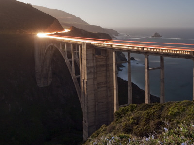 Bixby Bridge Along the Big Sur Coastline Photographic Print by Douglas Steakley