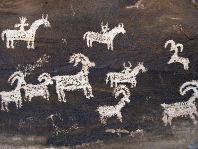 Ute Indian Petroglyphs Photographic Print by John Elk III