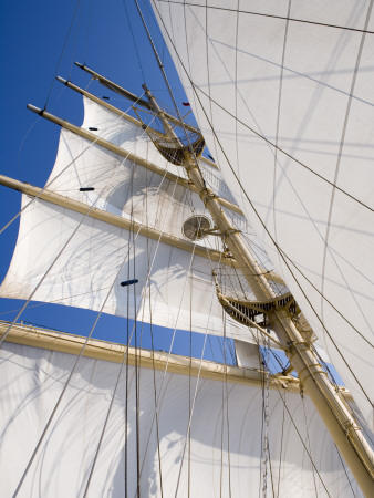 Star Clippers' Star Flyer Sailing Ship in the Aegean Sea Photographic Print by Holger Leue