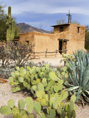 Adobe Mission, Degrazia Gallery in the Sun Photographic Print by Richard Cummins