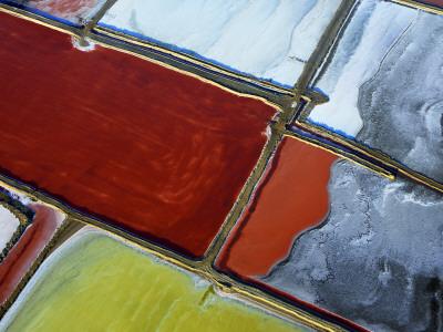 Aerial of Salt Pans Photographic Print by Johnny Haglund
