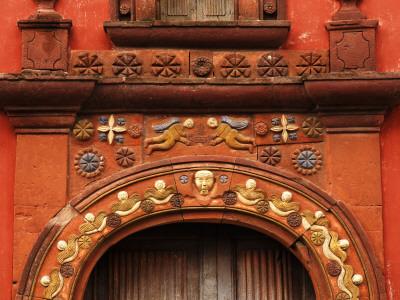 Mission San Miguel Viejo Doorway Detail Photographic Print by Douglas Steakley