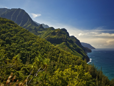 Na Pali Coast, as Seen from the Kalalau Trail Photographic Print by Merten Snijders