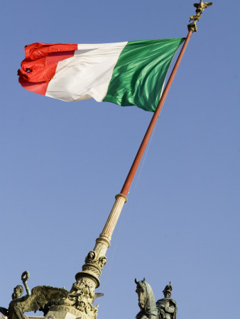 Flag Flying in Front of Neo Classical Ii Vittoriano Photographic Print by Will Salter