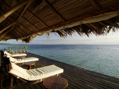 Looking Out to Sea from the Punta Caracol Hotel Verandah Photographic Print by Alfredo Maiquez