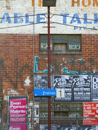 Nightclub Bill Posters at Prahran Train Station Photographic Print by Sabrina Dalbesio