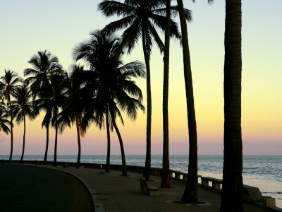 The Sunset Maputo Bay, Maputo, Mozambique Photographic Print by Oliver Strewe