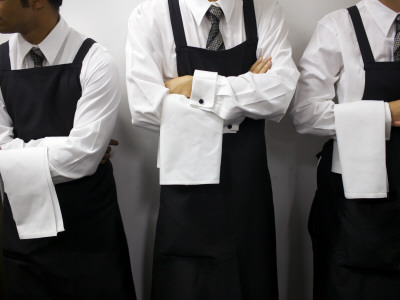 Waiters Ready for Service Photographic Print by Oliver Strewe