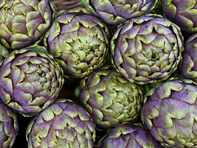Artichokes for Sale at Market at Campo De' Fiori Photographic Print by Richard l'Anson