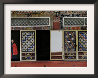 A Buddhist Monk at the Pohyon Temple on Mount Myohyang, May 17, 2006, in Central North Korea Framed Photographic Print by Wally Santana