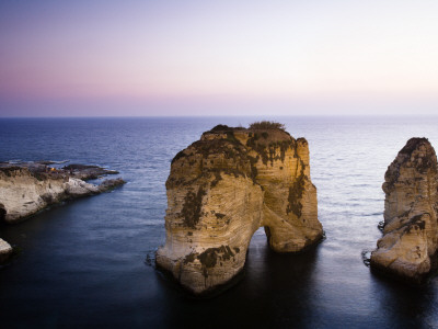 Pigeon Rocks (Also known as Raouche) at Dusk Photographic Print by Tim Barker