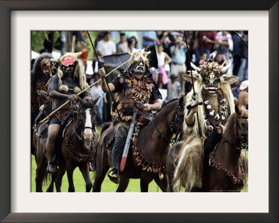Colombian Performers Framed Photographic Print by Fernando Vergara