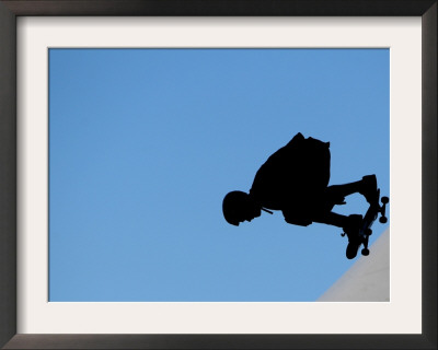 Renton Millar Competes at a Vertical International Skateboard Competition in Rio De Janeiro Framed Photographic Print