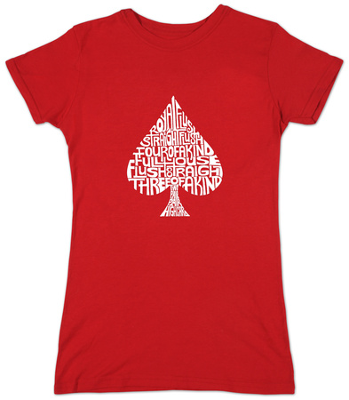 Juniors: Spade 'Poker Hands' T-Shirt
