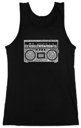 Juniors: Tank Top - Greatest Rap Hits Boom Box T-Shirt