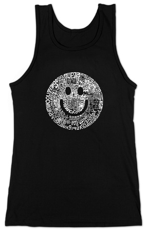 Juniors: Tank Top - Smile Face T-shirts