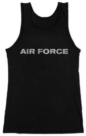 Juniors: Tank Top - Lyrics To The Air Force Song T-Shirt