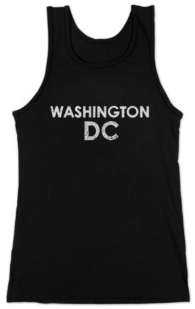 Juniors: Tank Top - Washington DC Neighborhoods T-Shirt