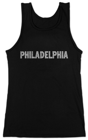 Juniors: Tank Top - Philadelphia Neighborhoods T-Shirt