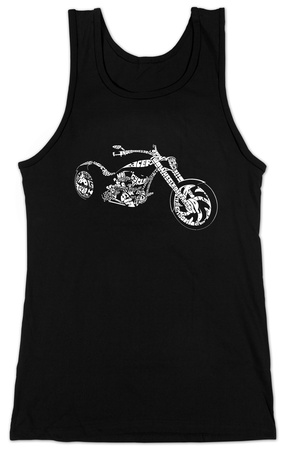 Juniors: Tank Top - Motorcycle T-Shirt