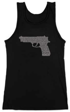 Juniors: Tank Top - Gun created out of 2nd Amendment T-Shirt