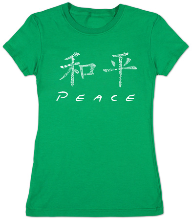 Juniors: Chinese Peace Symbol T-shirts