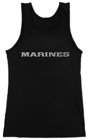 Juniors: Tank Top - Lyrics To The Marines Hymn T-Shirt