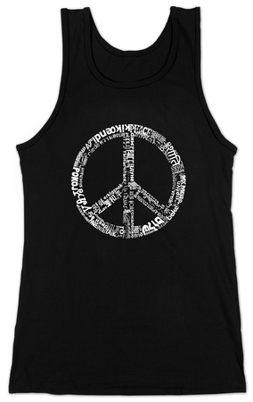 Juniors: Tank Top - Peace in 77 Languages T-shirts