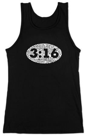 Juniors: Tank Top - John 3:18 T-Shirt