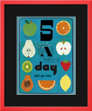 Five a Day Framed Art Print