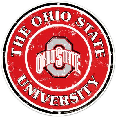 Ohio State University Tin Sign