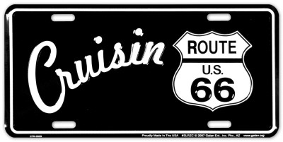 Route 66 B&W Cruisin' Cartel de chapa