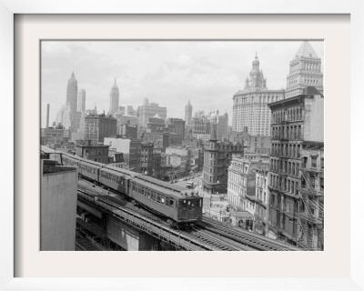 Third Avenue EL, New York, New York Framed Photographic Print by John Lindsay