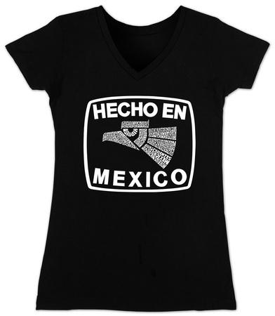 Juniors: V-Neck- Hecho En Mexico Womens V-Necks